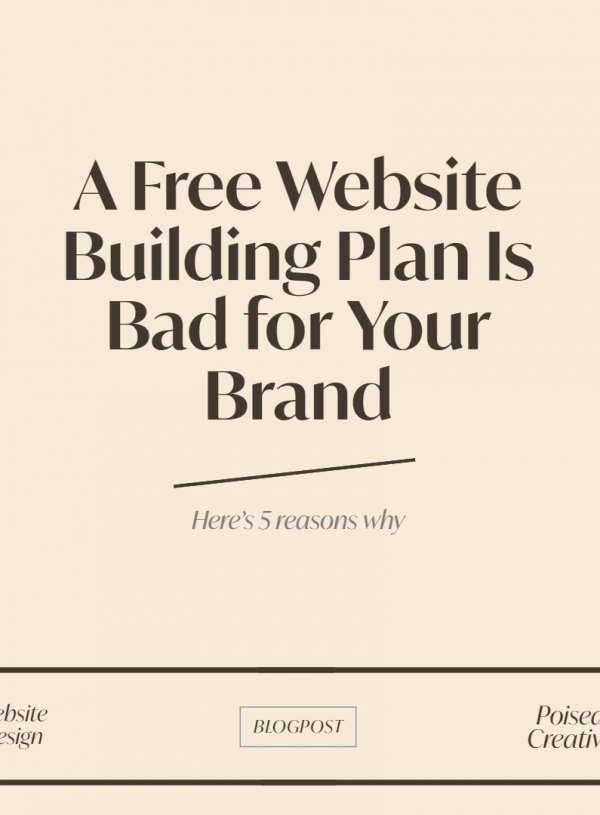 5 reasons why a free website building plan is bad for your brand